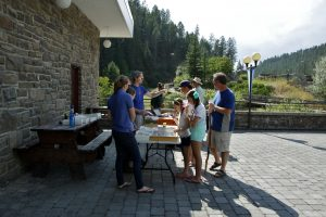 Outreach event at Radium Hot Springs