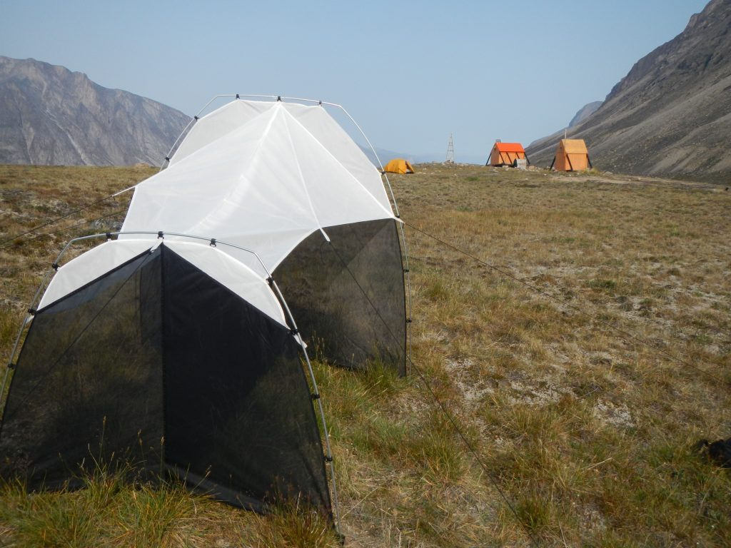 Malaise trap in Auyuittuq National Park