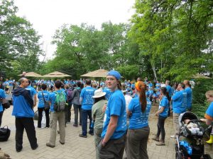 Here is a picture of me at the opening ceremony at the BioBlitz. As you can see the courtyard at the Ontario Science Centre was packed full of biodiversity enthusiasts.