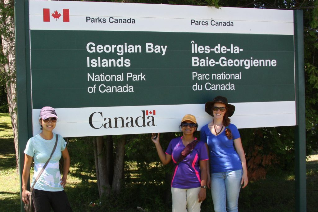 The whole team at Georgian Bay Islands National Park