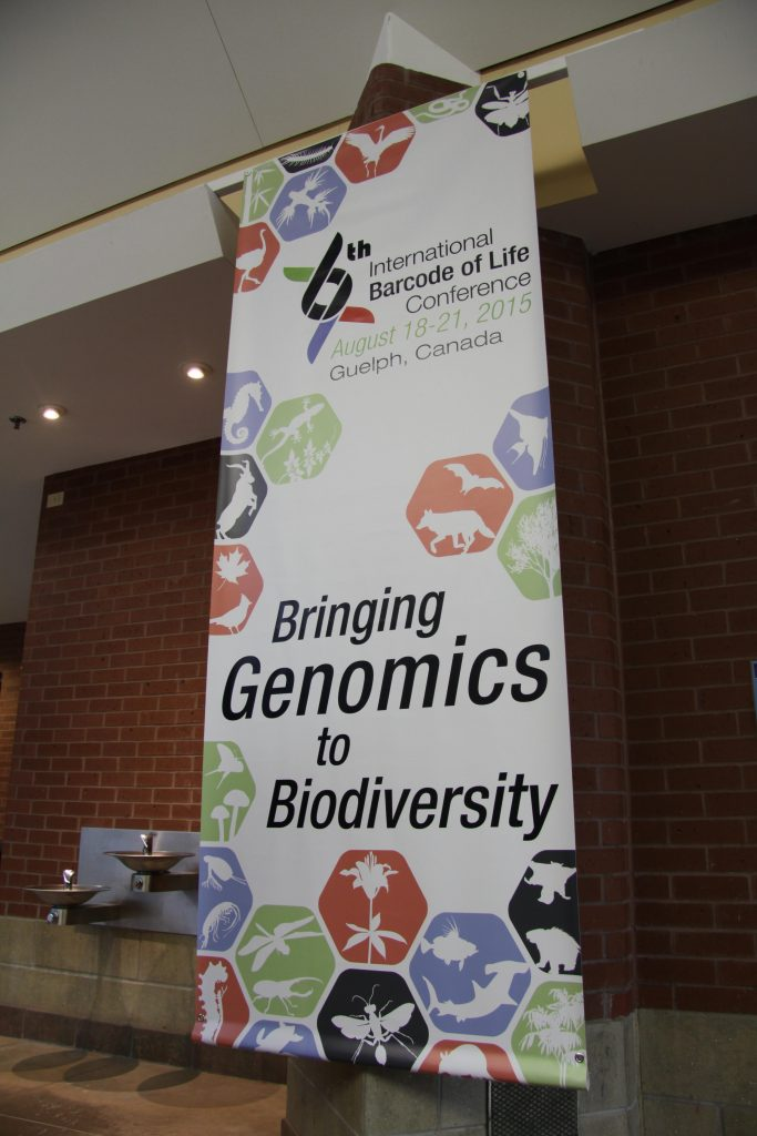 One of the conference banners that can be found hanging all over Rozanski Hall