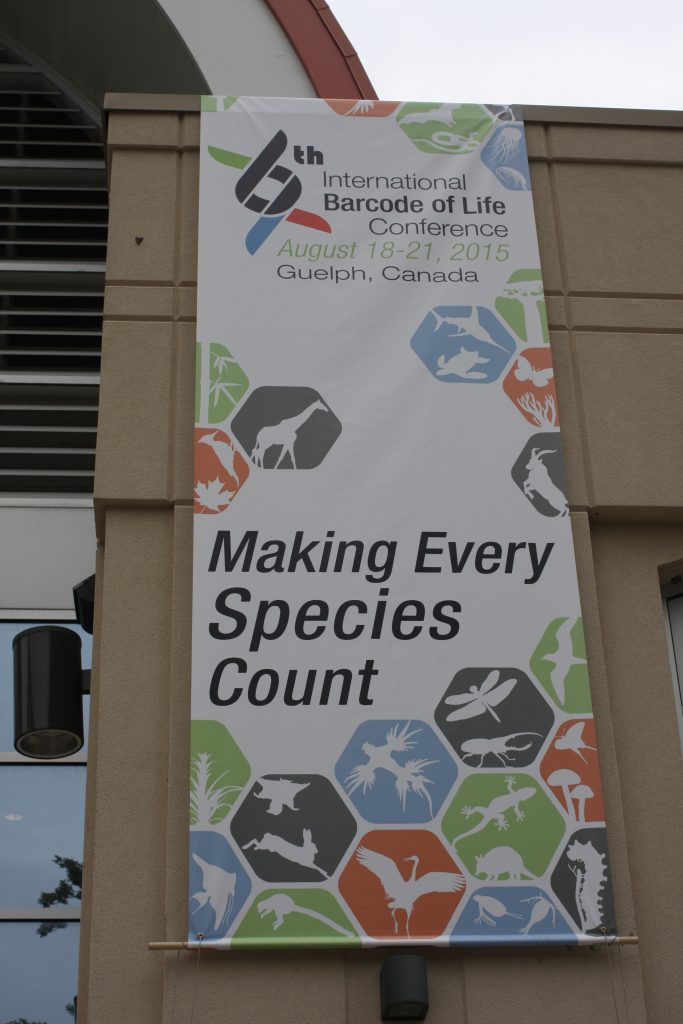 Here we have the Banner of the 6th International Barcode of Life Conference
