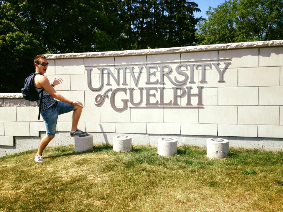 Enjoying my visit to the University of Guelph