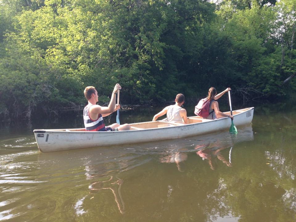 Canoeing along the Speed River