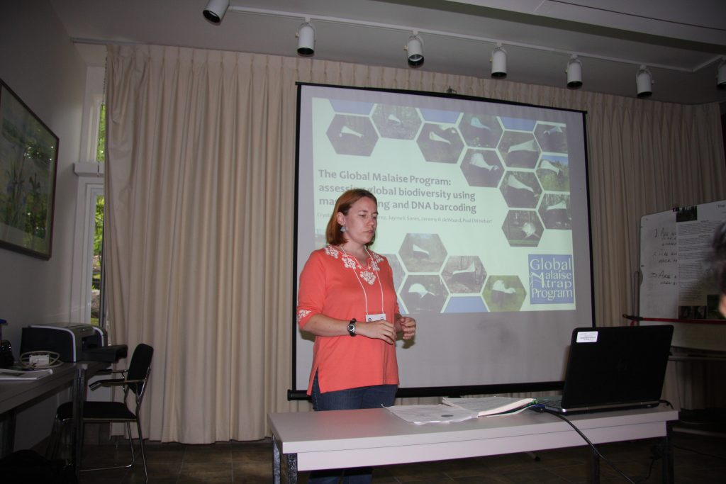 Giving my talk on the Global Malaise Trap Program
