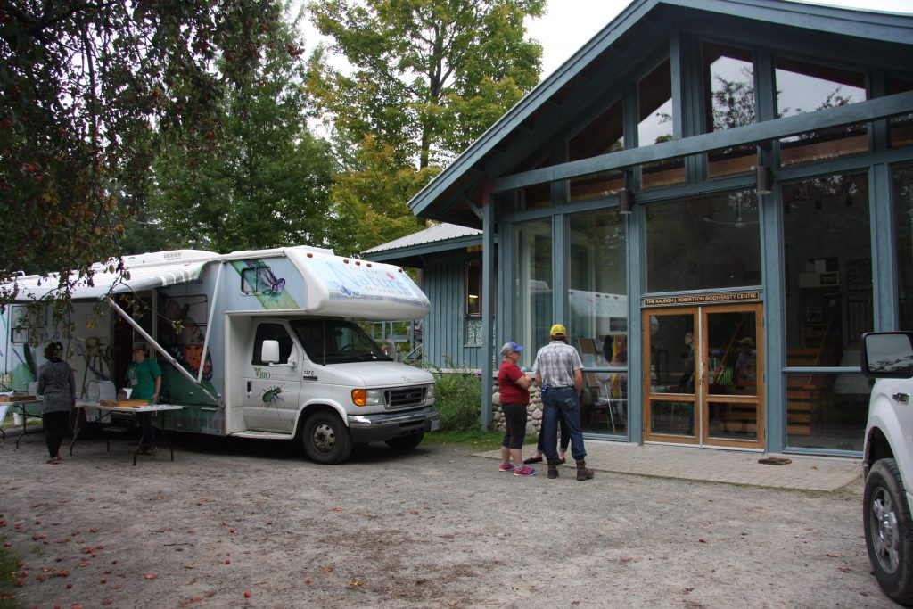 The BIObus was front and centre at QUBS's Raleigh J. Roberston Biodiversity Centre