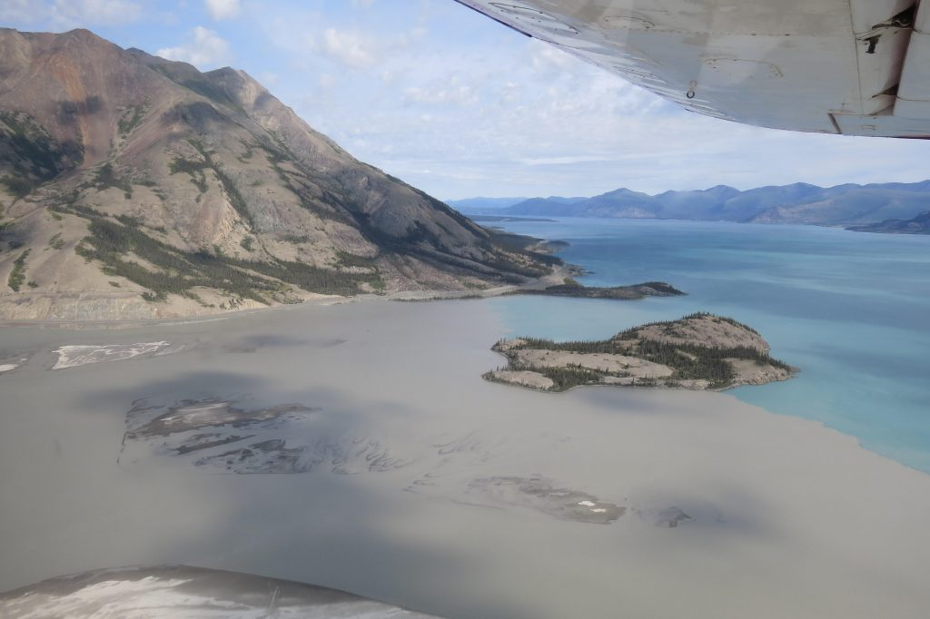 Kluane Lake – notice all the silt!