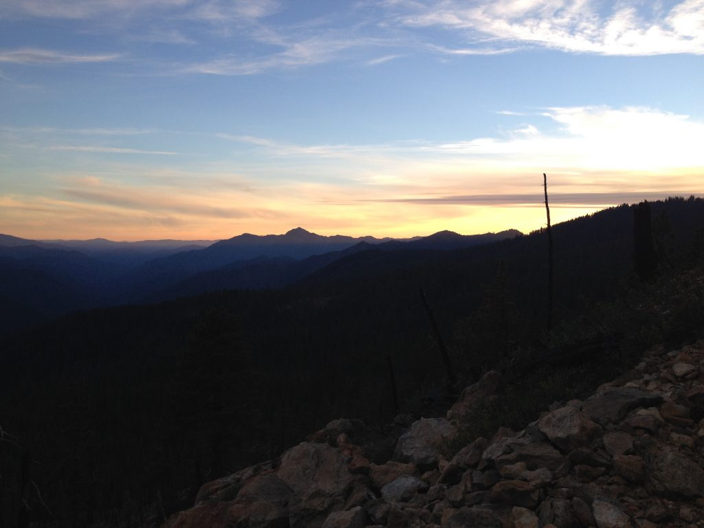 Sunset over Lassen National Forest